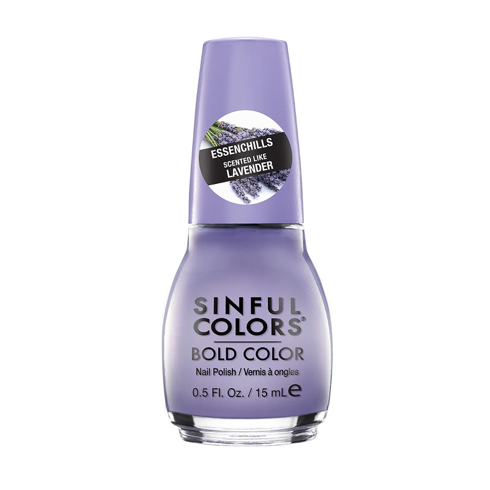 SinfulColors Essenchills Nail Polish in lavender on white background