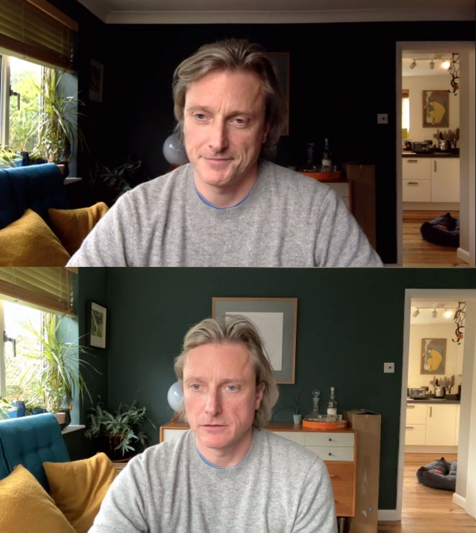 Top a MacBook Pro with a 720p FaceTime HD camera. Bottom the new iMac 1080p version