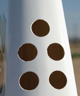 factory-made vent holes, fuselage