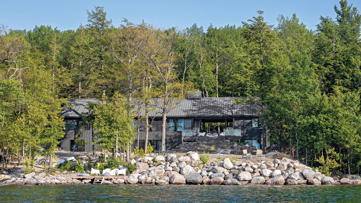 Lakeside View of House